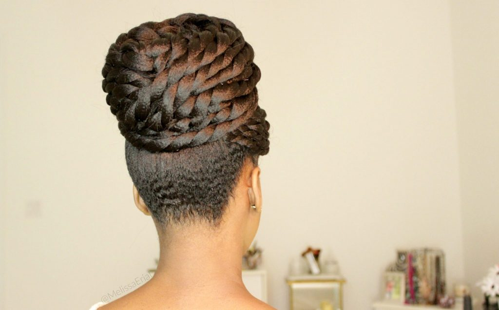 Flat Twist Updo For Bridal Natural Hairstyles Easy And Elegant