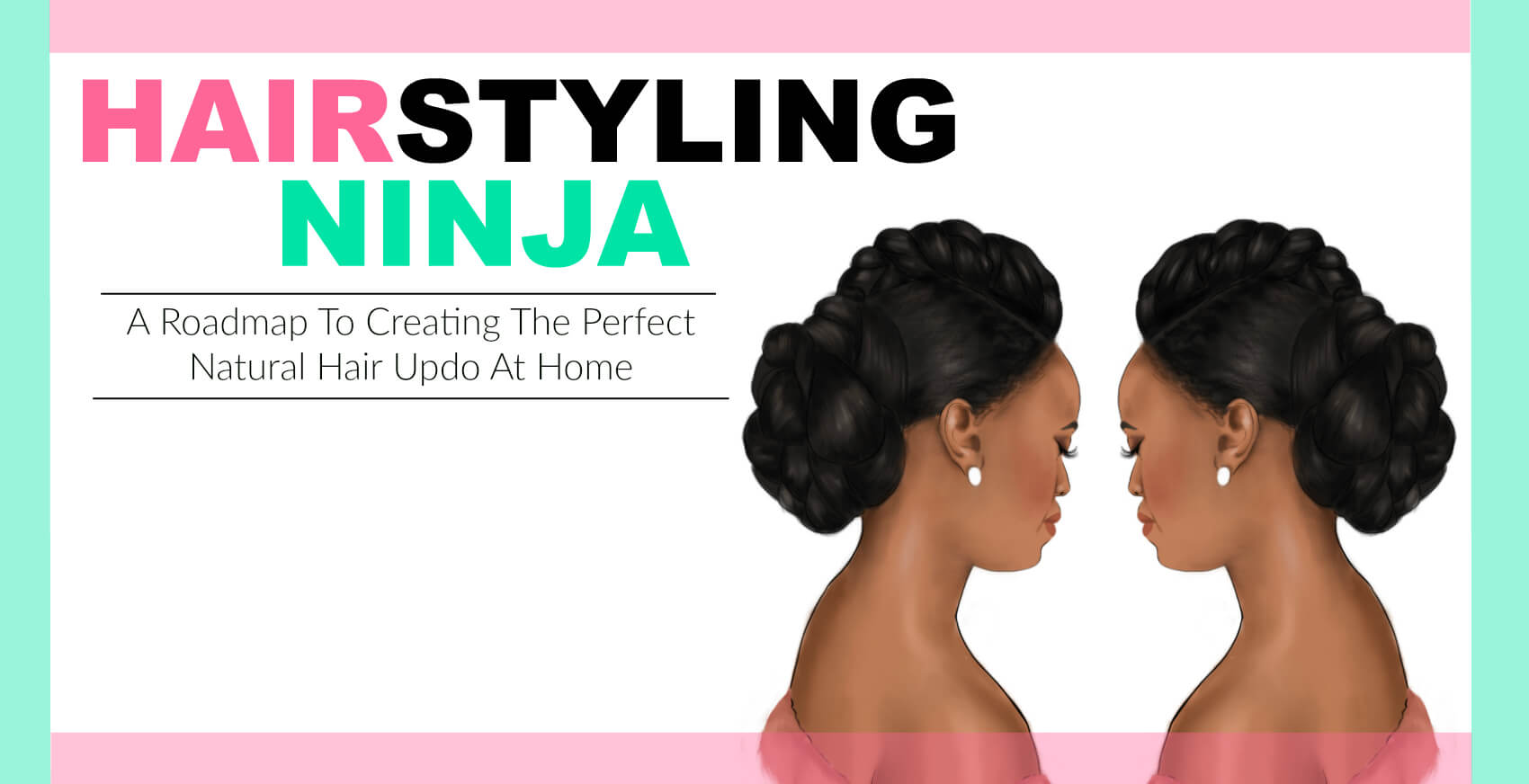 hairstyling ninja for black women -Learn to do natural updo wedding hairstyles for Black women